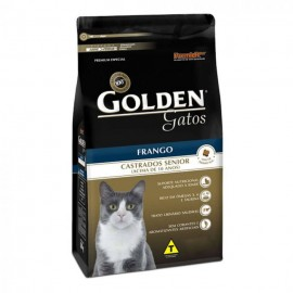 Golden Gatos Castrado Frango Sênior 3kg