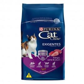 Cat Chow Exigentes Frango, Carne e Atum 1 kg