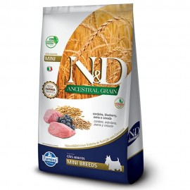 N&D Ancestral Grain Cordeiro Adulto Mini Breeds 2,5 kg