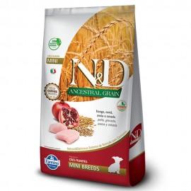 N&D Ancestral Grain Frango e Romã Puppy Mini Breeds 800 g
