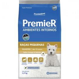 Premier Ambientes Internos Raças Pequenas Filhotes 1 kg