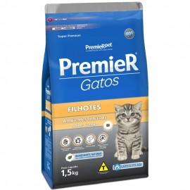 Premier Gatos Filhotes Ambientes Internos Frango 1,5 kg