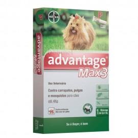 Antipulgas e carrapatos Advantage max 3 até 4kg