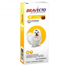 Antipulgas e carrapatos Bravecto Oral 112,5mg cães 2 a 4,5kg