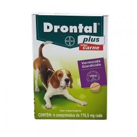 Drontal Plus Carne Vermífugo Cães Até 10 kg Cx 4 Comp