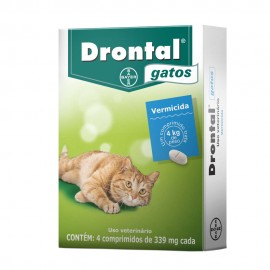 Drontal Gatos Vermífugo Cx 4 Comp