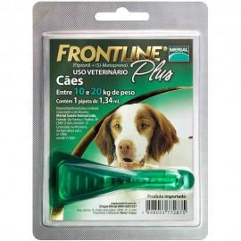 Frontline Plus Antipulgas Cães de 10 kg a 20 kg