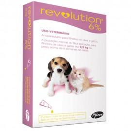 Revolution Antipulgas Cães e Gatos Até 2,5 kg Rosa