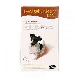 Revolution Antipulgas Cães 5,1 a 10 kg Marrom