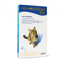 Revolution Antipulgas Gatos 2,6 a 7,5 kg Azul
