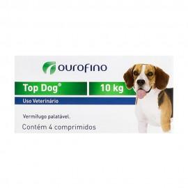 Top Dog Vermífugo Cães 10 kg Cx 4 Comp