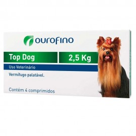 Top Dog Vermífugo Cães 2,5 kg Cx 4 Comp