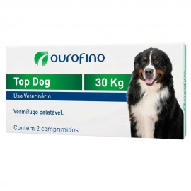 Top Dog Vermífugo Cães 30 kg Cx 2 Comp