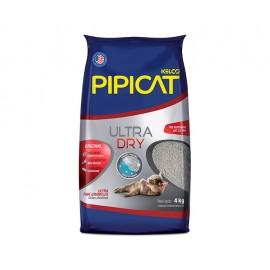 Areia Higiênica Pipicat Ultra Dry 4 kg