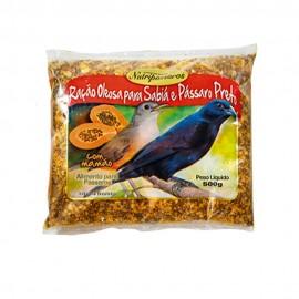 Nutripássaros Ração Oleosa Para Sabiá e Pássaro Preto 500 g