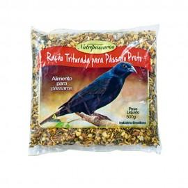 Nutripássaros Ração Triturada Para Pássaro Preto 500 g