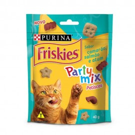 Friskies Party Mix Petisco Sabor Camarão, Salmão e Atum 40 g