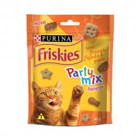 Friskies Party Mix Petisco Sabor Frango, Fígado e Peru 40 g