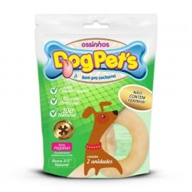 DogPets Osso Rosca de 8cm Natural Com 2 Unidades