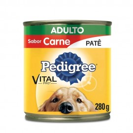 Pedigree Lata Patê De Carne Adulto 280 g