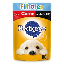 Pedigree Sachê Carne Ao Molho Filhotes 100 g